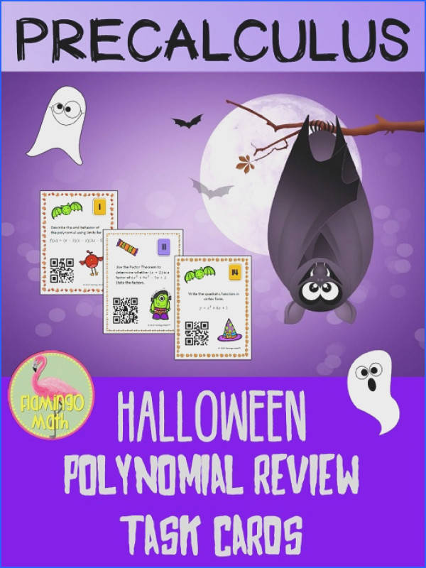 Just a spooky little task card review of Polynomials for your goblins in Algebra 2 Honors