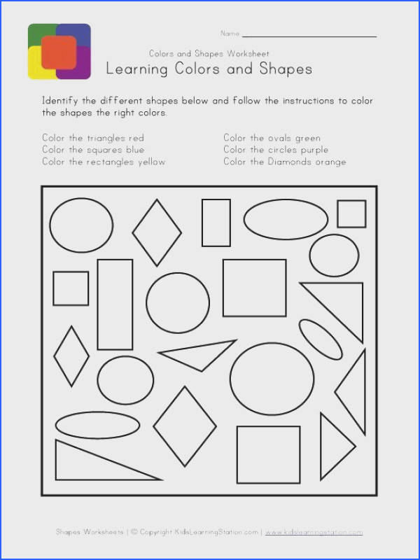 Teach kids colors and shapes with free printable shapes and colors worksheets from Kids Learning Station Help kids learn colors and shapes with these free