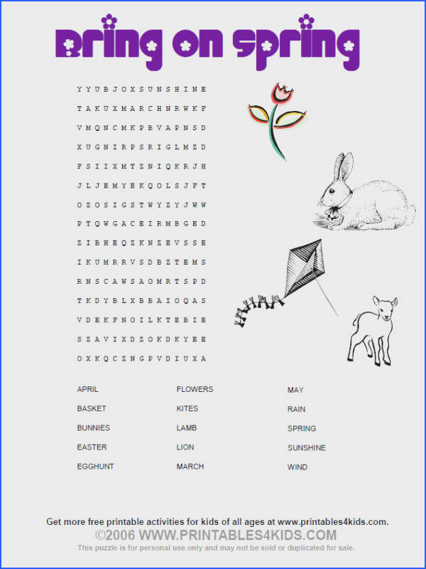 Kindergarten Word Search Puzzles Printable Worksheets for all Download and Worksheets