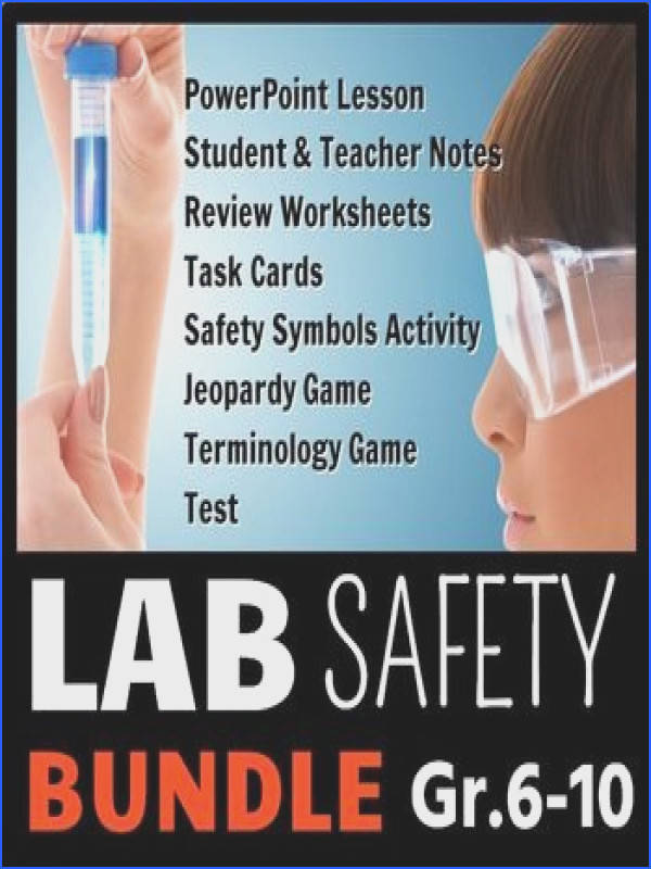 Lab Safety Lesson Bundle This lab safety lesson bundle contains eight editable resources see