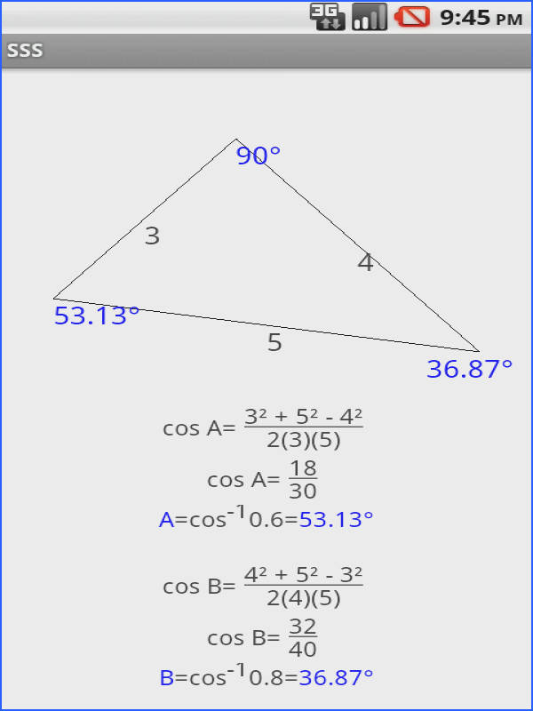 Law of Sines and Cosines Free screenshot