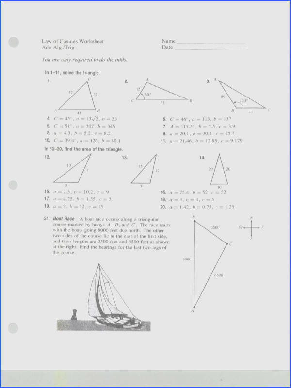 pictures law of sines worksheets mindgearlabs