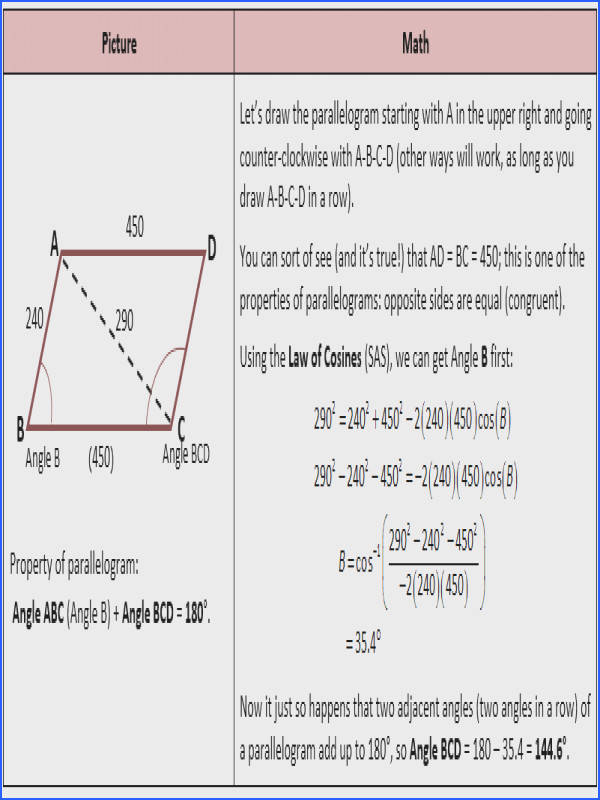 Law Sines And Law Cosines Worksheet Answers photo 1