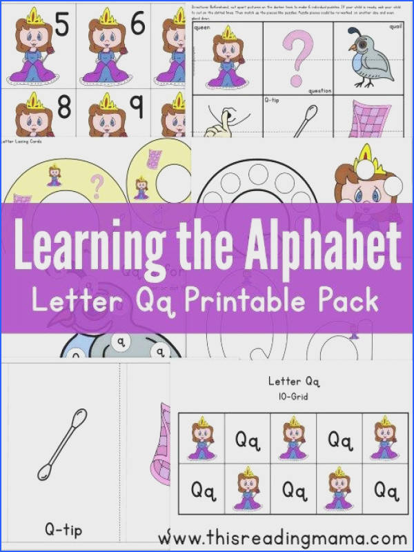 Learning the Alphabet FREE Letter Q Printable Pack