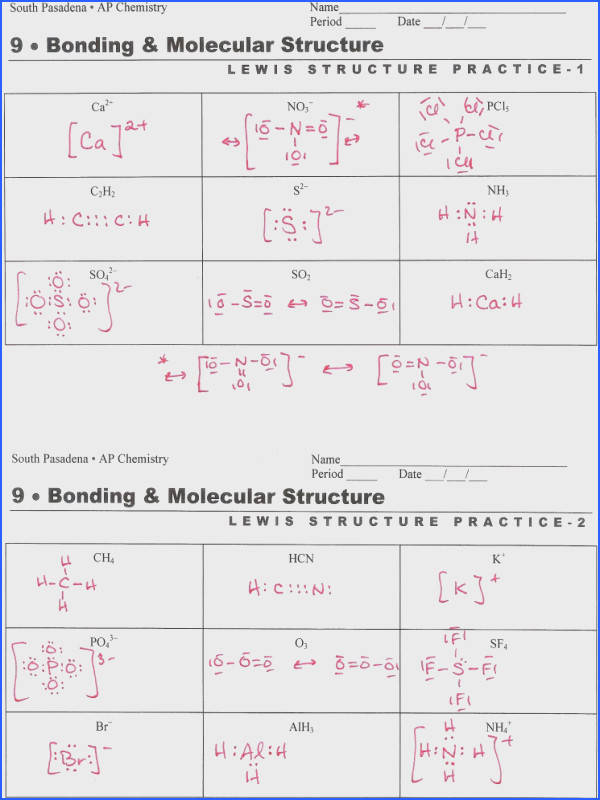 Lewis Dot Structure Worksheet & 1 Pages Lewis Dot Worksheet 1 Image Below Lewis Structure Worksheet with Answers