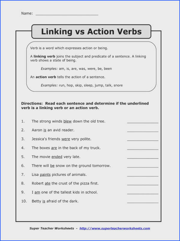 Limiting Reagent Worksheet Answer Key with Work Fresh Linking Verbs Worksheet Free Worksheets Library