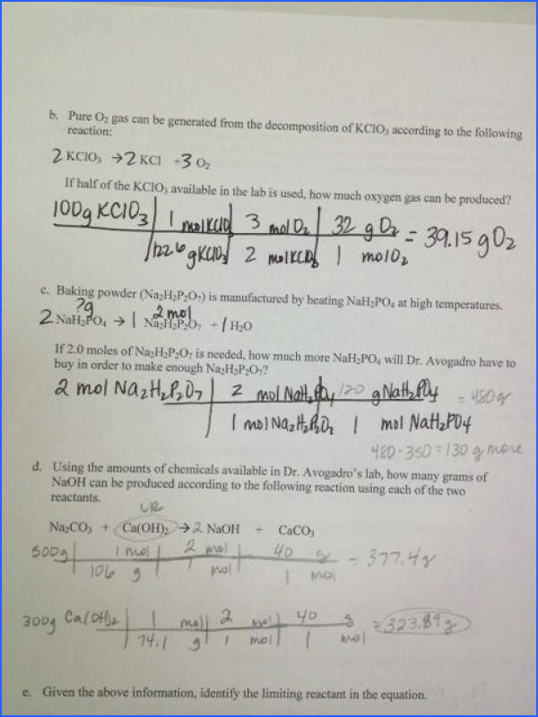 limiting reagent worksheet and info chemistry class collect limiting reagent worksheet 1 awesome limiting reagent