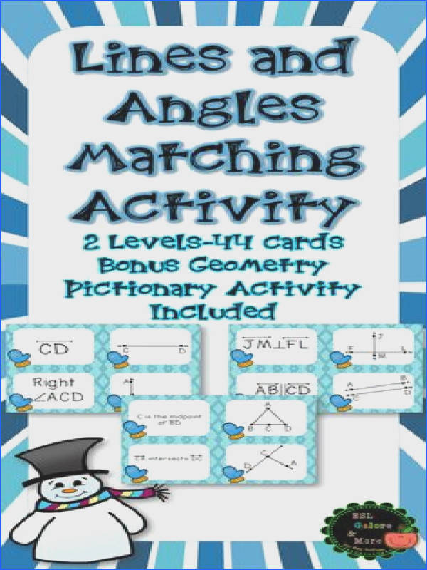this purchase Matching Cards Level 24 cards Level 20 cards BONUS Geometry Pictionary Directions Examples to show students Worksheet for students