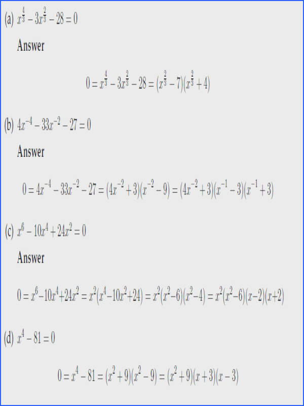 Quadratic Worksheets For All Download And