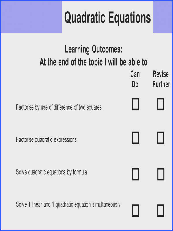 Linear Quadratic Systems Worksheet New Quadratic Equations Learning Out Es ¯'§ Factorise by Use
