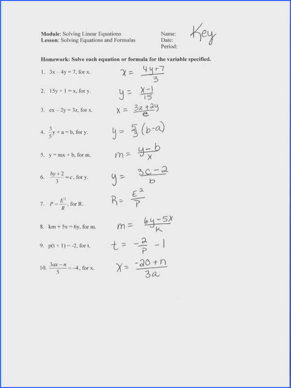 PDFPractice Solving Literal Equations
