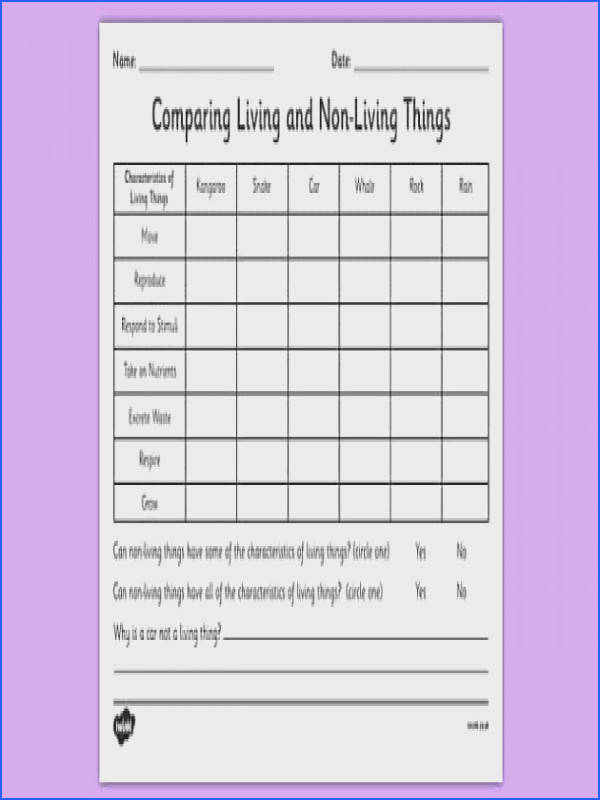Living Things Worksheet Worksheets for all Download and Worksheets