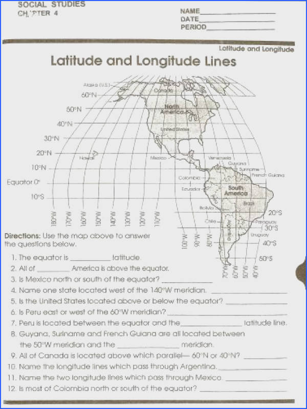 Longitude and Latitude Printable Worksheet Printable latitude and longitude maps worksheets Mena Fire Places to Visit Pinterest