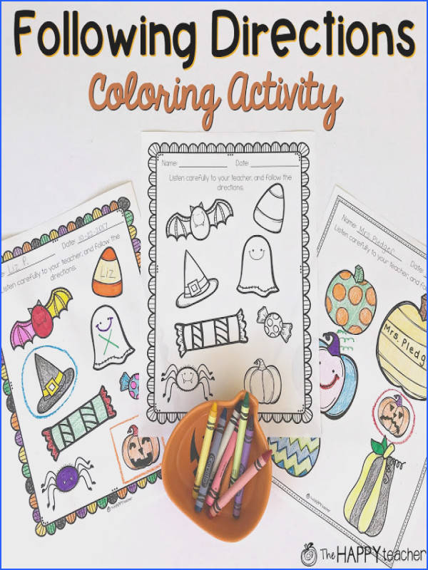 Love these Following Directions coloring activity to students to practice listening and following directions the