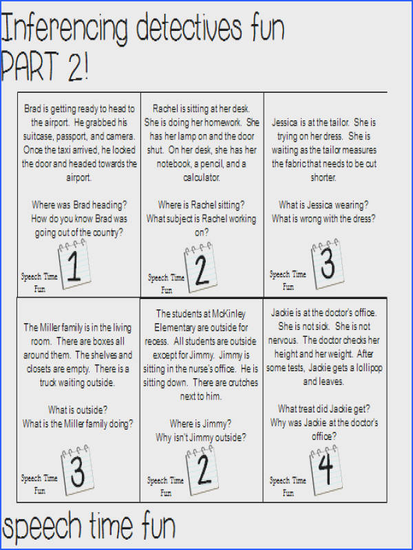 Inference Worksheet 2 Worksheets For All Download And