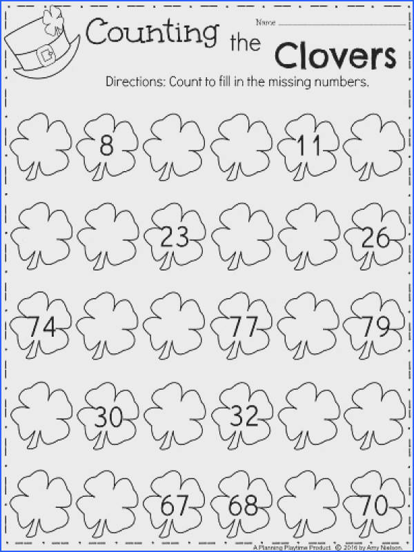 March Kindergarten Math Worksheets Counting