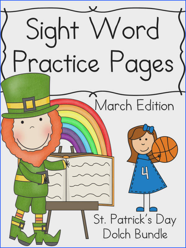 Get a free sample of our March Sight Word Worksheets These worksheets contain leprechauns and