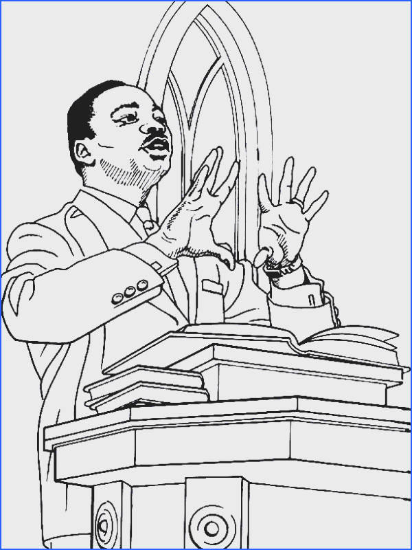 Fashionable Inspiration Martin Luther King Coloring Pages Printable Jr And Worksheets Best
