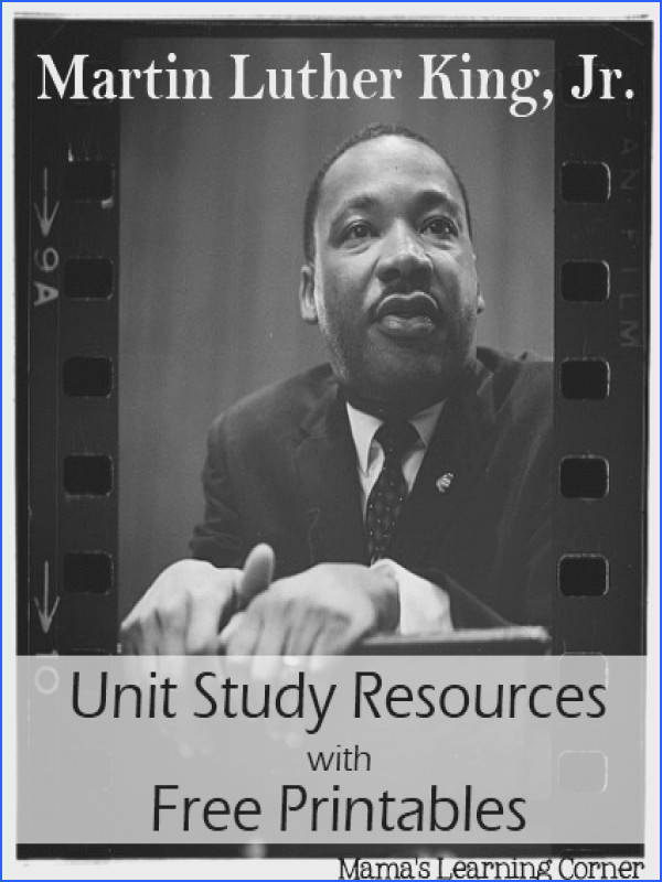 Martin Luther King Jr Unit Study Resources with Free Worksheets