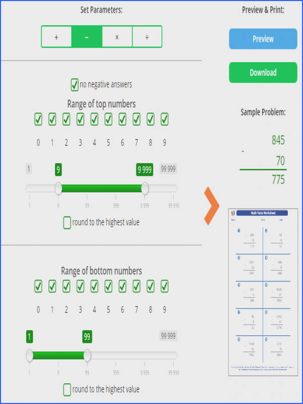 Math Generator about Math Facts has just been released Create