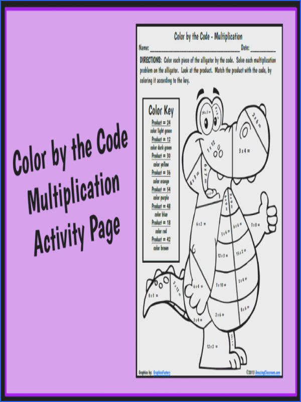 Color by the Code Multiplication