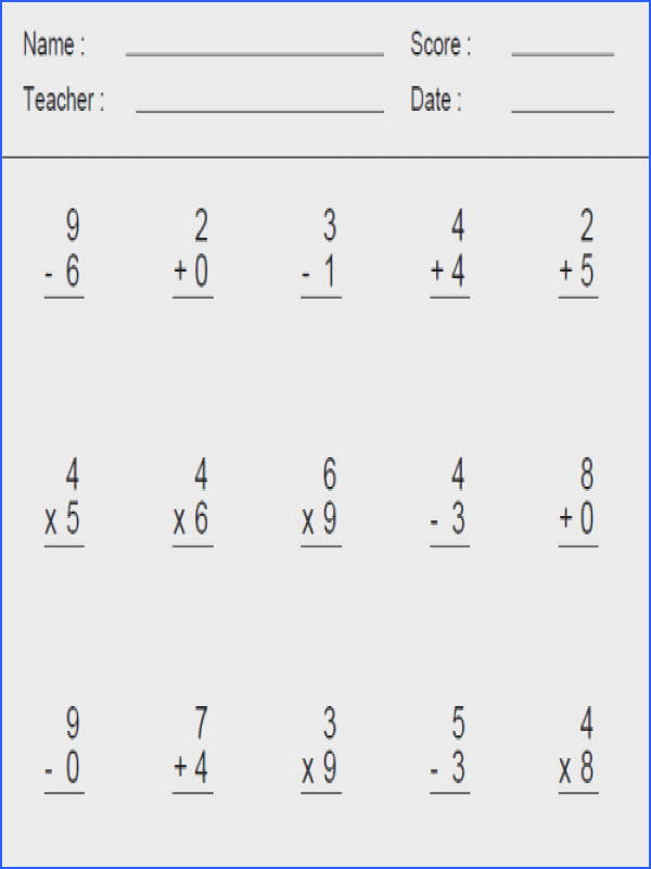 Math Problems Worksheets for all Download and Worksheets