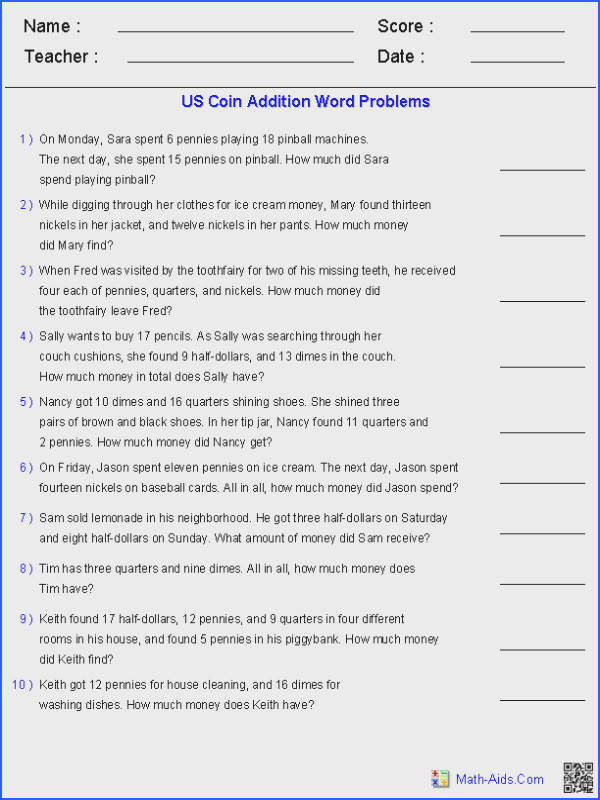 Math Word Problems 4Th Grade Worksheets for all Download and Worksheets