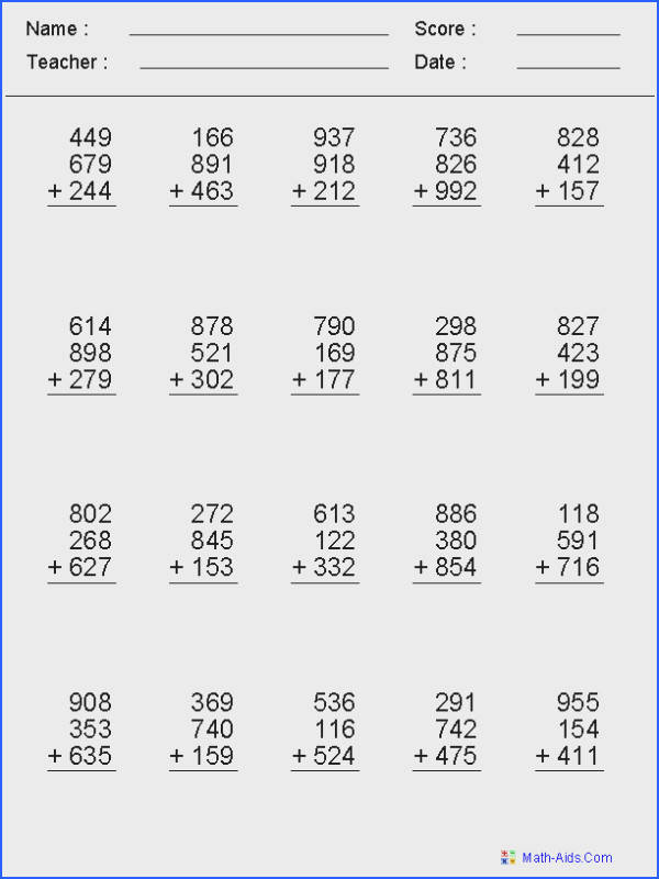 math worksheet creator tons of categories with tons of customization options to create tons · Math Worksheets For KidsPrintable Maths