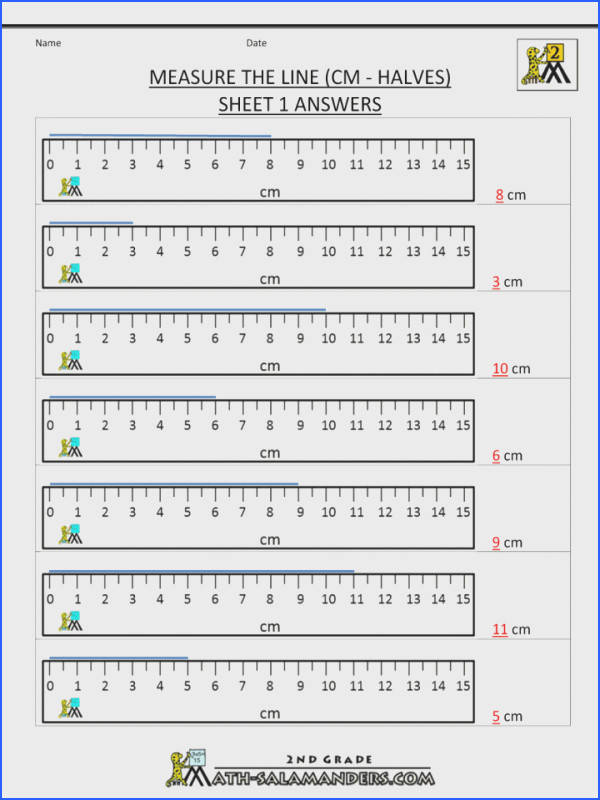 Using Ruler Worksheet Free Worksheets Library Download And Math 4th Grade Measurement Measure The Line Cm