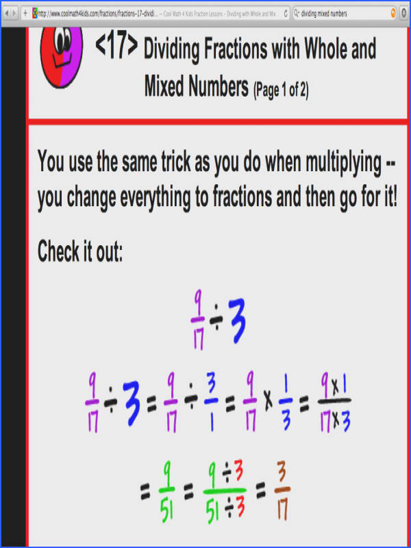 Dividing Fractionsithhole Numbersorksheet By Pdf Unitord Problems Fractions With Whole Numbers Worksheet Unit Word Division
