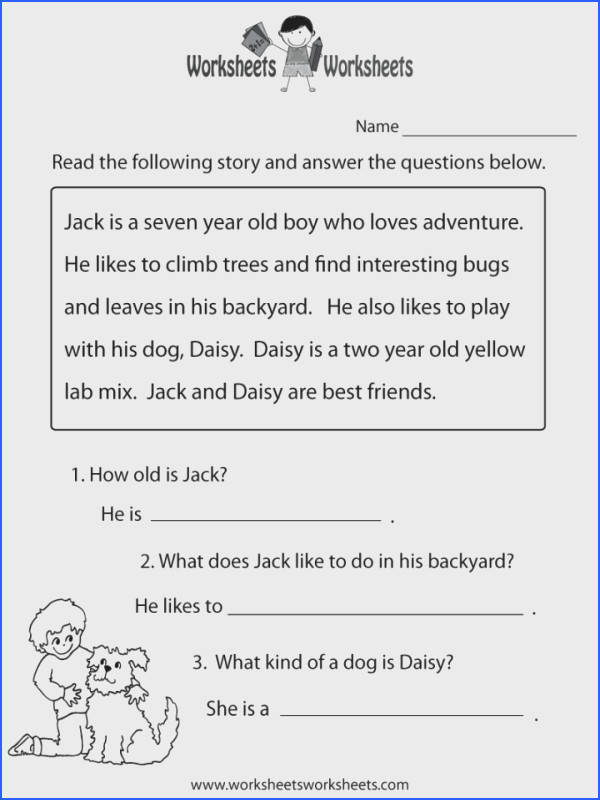 Reading prehension Worksheets For Kindergarten And First Grade Students Activities Esl Exercises Phonics Pdf 1 720