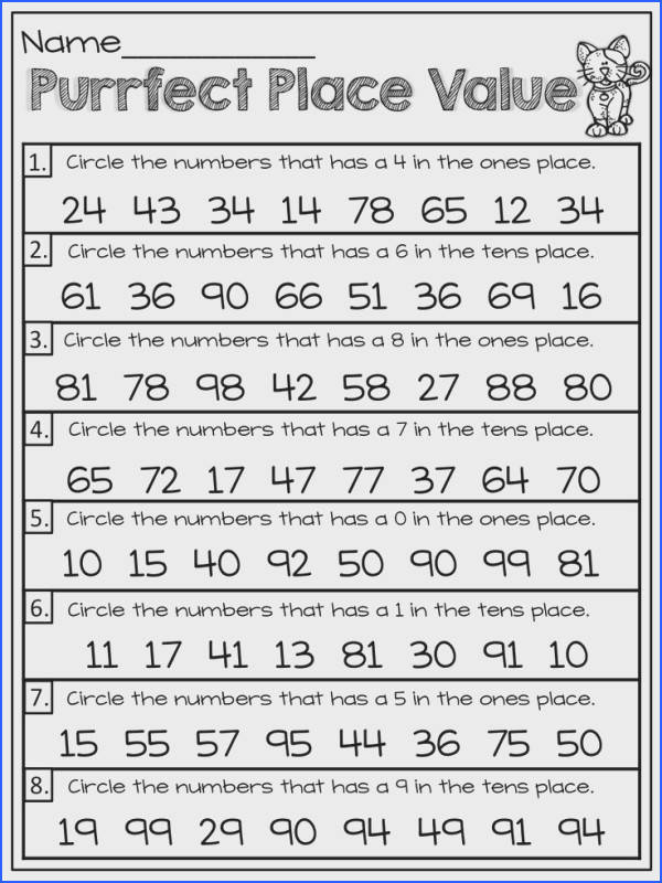 Enchanting Maths Worksheets Place Value Ks1 Also Working With Place Value This Would Have To