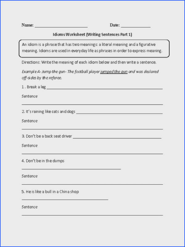 Meanings Idioms Worksheet Part 2 Intermediate Recipes to Cook Pinterest