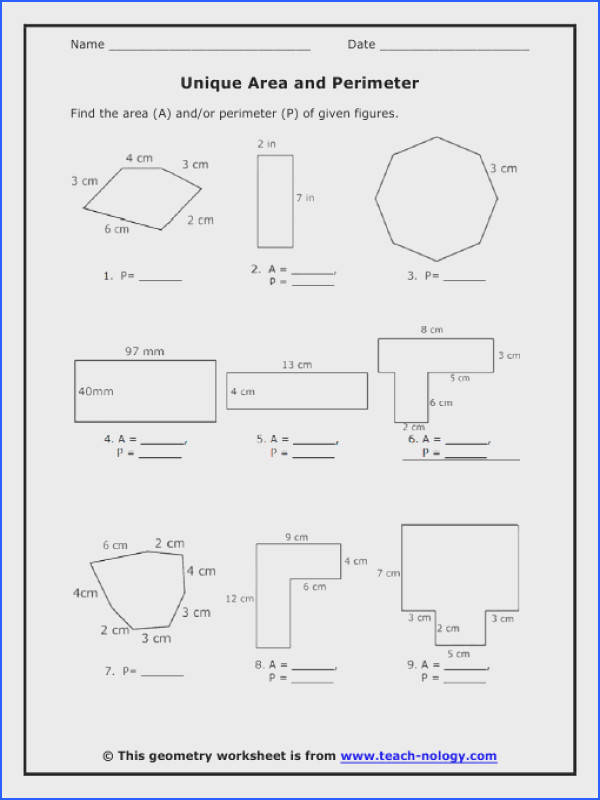 Area of Polygons Worksheets Free