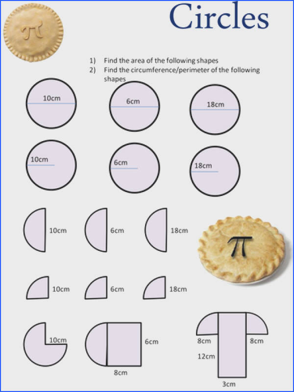 Area and Circumference of a Circle by danbar Teaching Resources TES