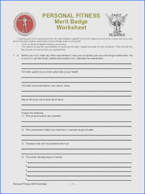 Graphics For Personal Fitness Merit Badge Boy Scout Swimming Worksheet