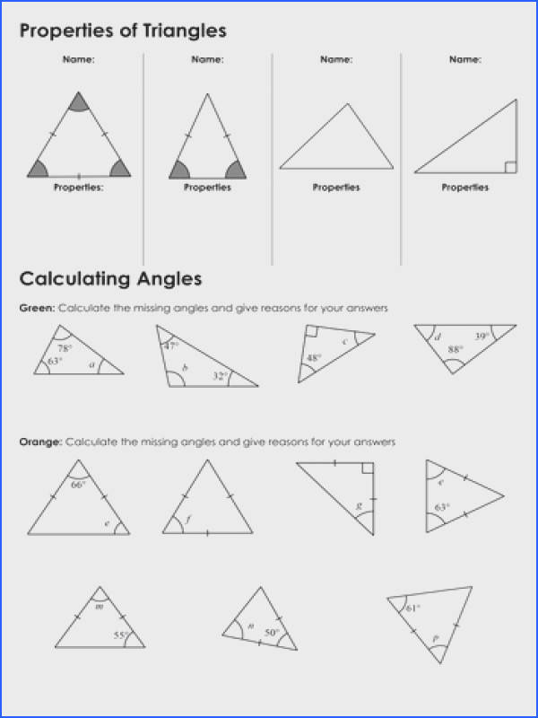 Adorable Missing Angles In Triangles Worksheet Tes Types Triangles And Angles In A