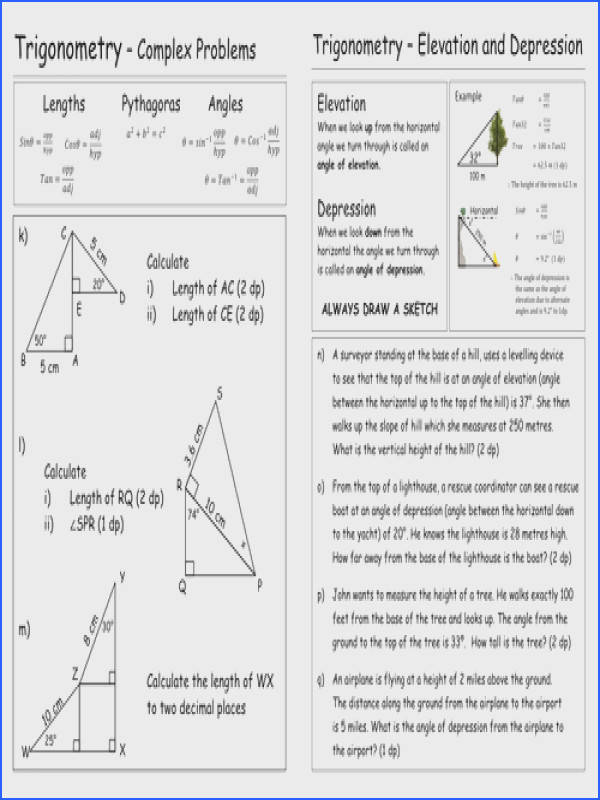 Impressive Missing Angles In Triangles Worksheet Tes Trigonometry Worksheet By Pebsy Teaching Resources Tes