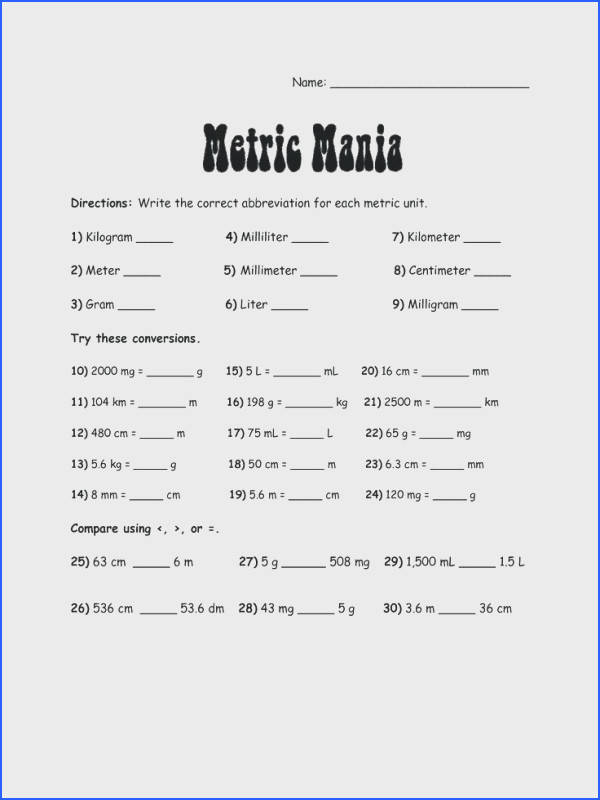 mole conversions worksheet answers and metric system worksheet answers ideas about metric system on conversion charts