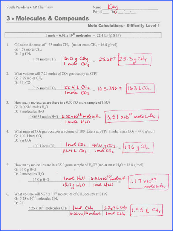 Molarity Calculation Worksheet Worksheets for all Download and Worksheets