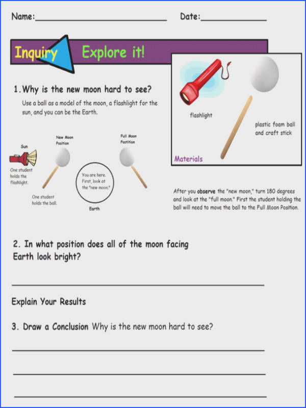 Moon Phases Activity Sheet I modified for my 4th graders