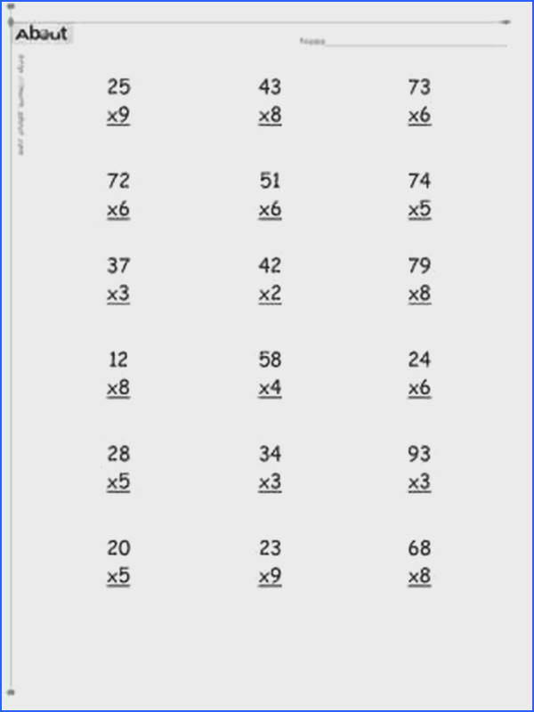 Multiplication worksheets 2 and 3 digits Timestables 2 and 3 ditit worksheets