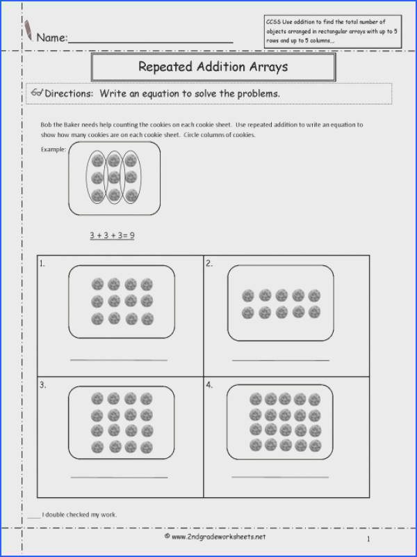 Multiplication Array Worksheets For Second Grade Fourth Arrays 5th 2nd 540