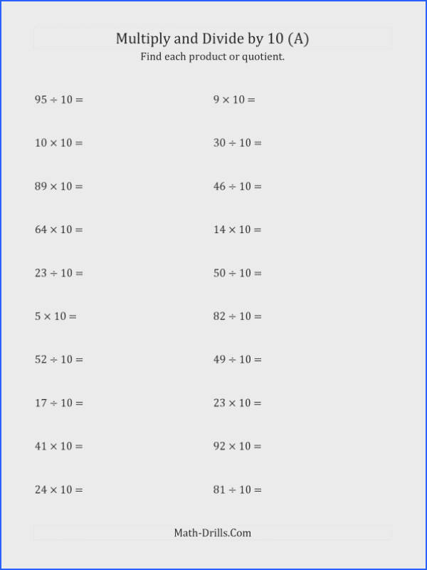 Multiply Fractions By Whole Numbers Worksheet Multiplying And Dividing Whole Numbers By 10 A Powersoften mixed p01 standard 00