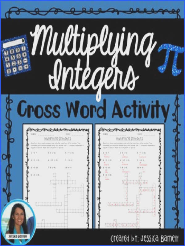 In this activity students will multiply integers and spell out the word form of each product