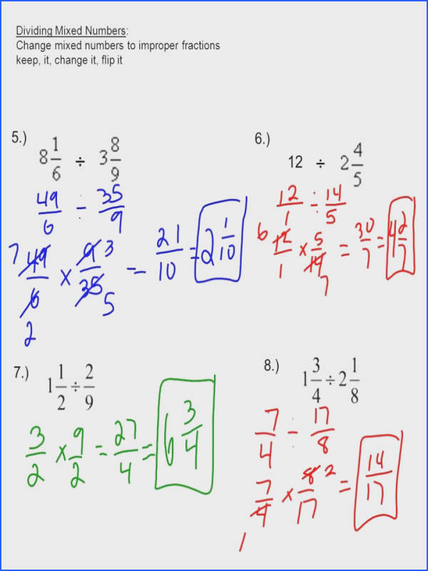 Multiplying Improper Fractions Worksheet Changing Into Wosenlyication Mixed Numbers Word Problems Worksheets Sl Math Skills