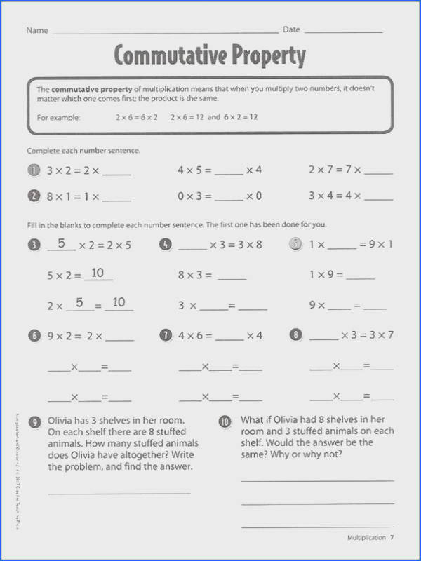 Worksheet associative property of addition and in at mutative property of multiplication worksheets 4th grade