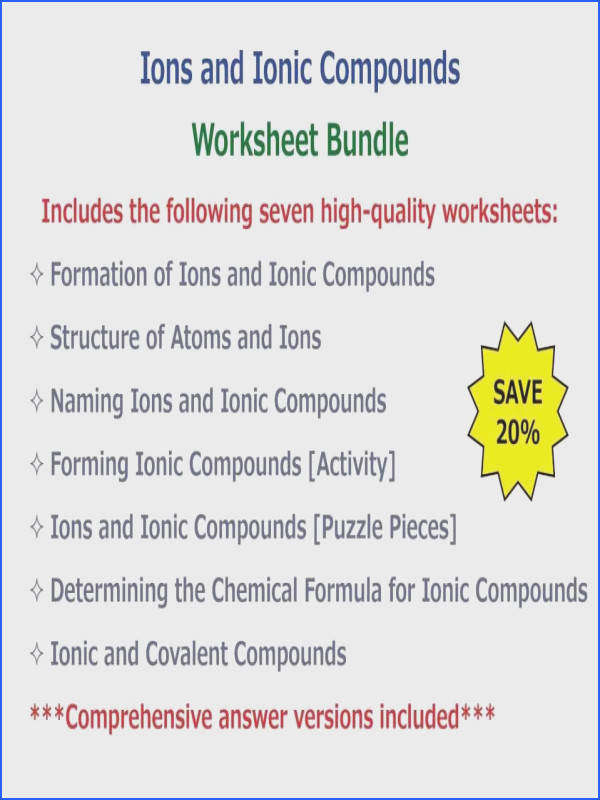 Full Size of Worksheet Template naming Ionic pounds Worksheet e Answers Naming pounds Worksheet Answers