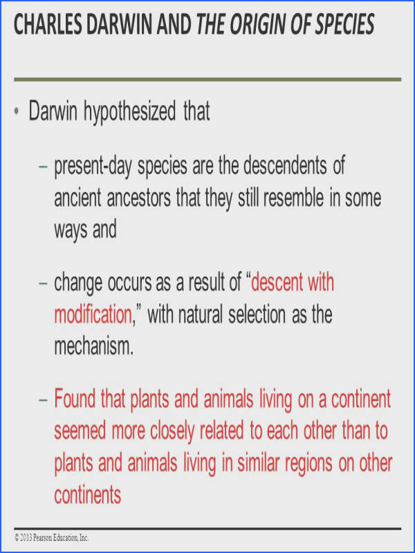How Populations Evolve ¯'§ Charles Darwin and the Origin of Species