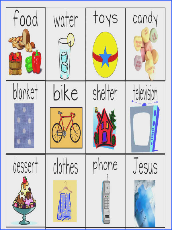 Needs Versus Wants Worksheets Object Lesson For Children